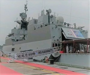 'Made in India' INS KavarattiCommissioned In Indian Navy