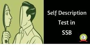 Ideal Tips To Prepare Self Description Test for SSB