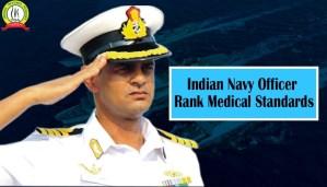 Indian Navy Officer Rank Medical Standards