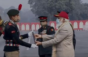 Yogesh Chaturvedi Gets 'Best NCC Cadet' Award