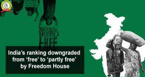 Ranking Downgraded From 'Free' to 'Partly Free' by Freedom House