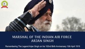 Tribute To Marshal Arjan Singh