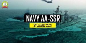 Indian Navy AA SSR 2021 Syllabus