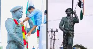 Statue of War Hero Colonel Santosh Babu Unveiled