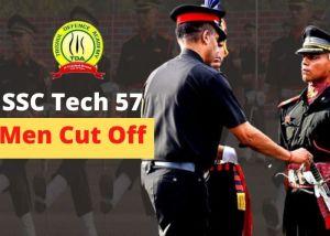 SSC Tech 57 Men Cut Off Marks 2021