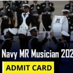 Navy MR Musician Admit Card 2021