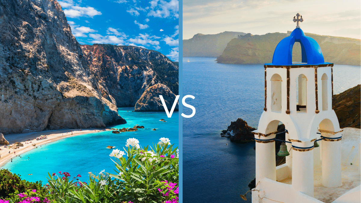 Ionian vs Aegean islands