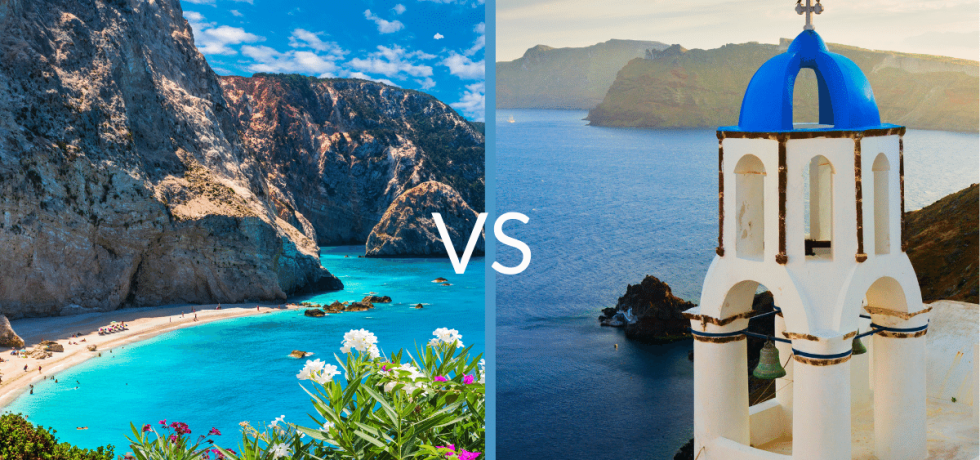 Ionian vs Aegean islands