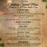 Ji Restaurant S Christmas New Year 2017 Special Menu Tugu Hotels Restaurants
