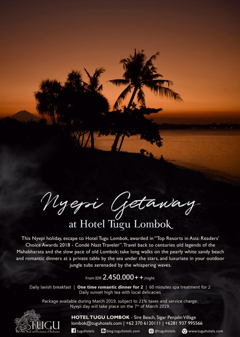 Nyepi Getway At Hotel Tugu Lombok What S On Tugu