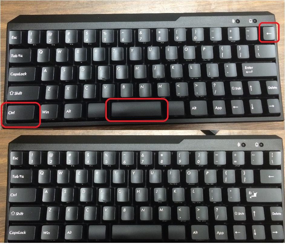 用备用键冒替换Backspace和|\的位置,以及Ctrl和Caps的位置