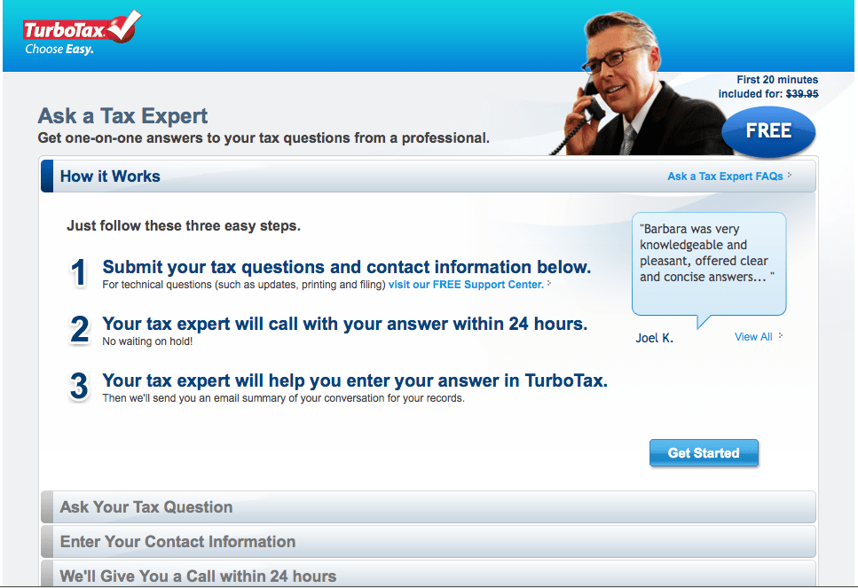 TurboTax 2011 Now Offers Free Live Tax Advice | The TurboTax Blog