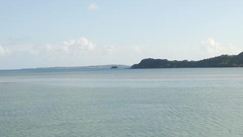 海中道路からの眺め
