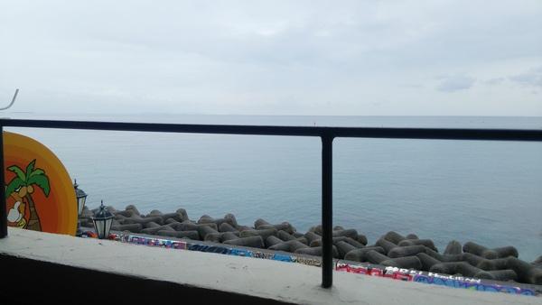 HORIZON CURRY WORKS OKINAWA テラス席からの海