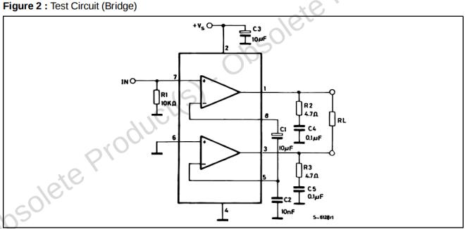 TDA2822M Köprü Örnek Şema