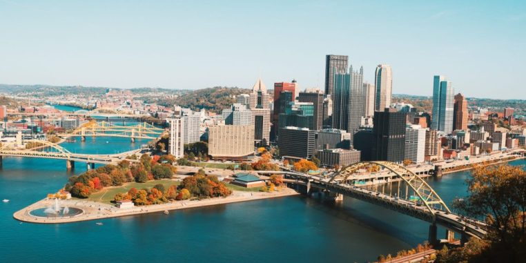 Aerial view of Pittsburgh