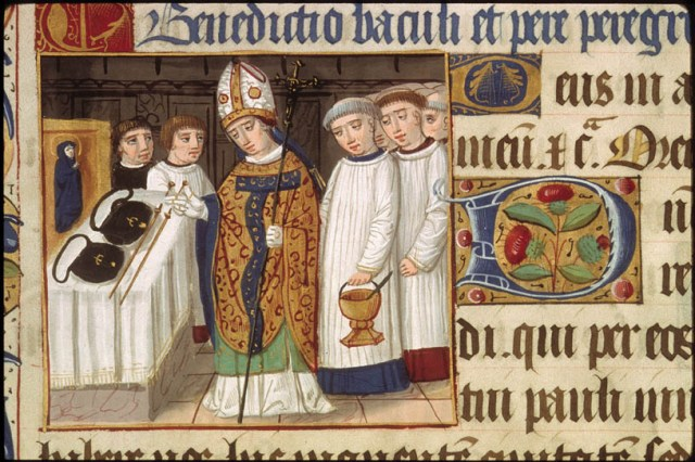 'Benedictio baculi et peregrinorum' in 'Pontifical romain à l'usage de Vienne'