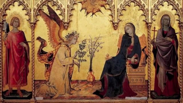 01 Annunciazione tra i santi Ansano e Massima, Simone Martini e Lippo Memmi, 1333