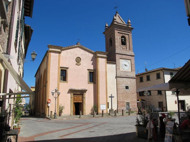 Piazza della Repubblica and the Church of San Regolo, Montaione