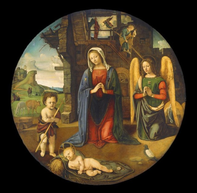 07 Piero di Cosimo, The Nativity with the Infant Saint John, 1495-1505, National Gallery of Art, Washington