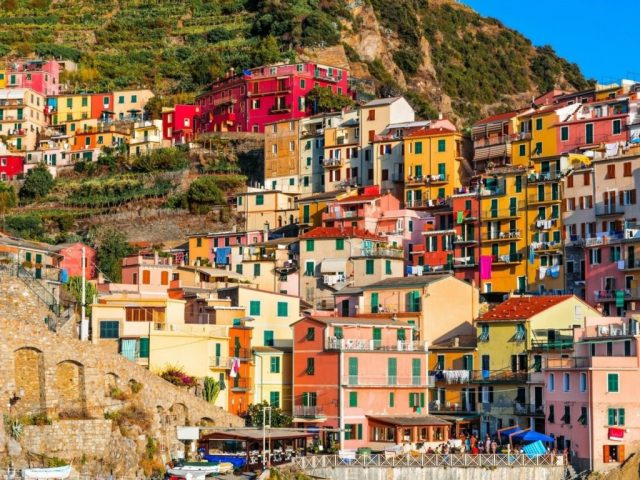 2 The brightly coloured houses of Manarola