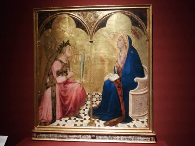Ambrogio Lorenzetti, Annunciation, 1344, Pinacoteca Nazionale, Siena