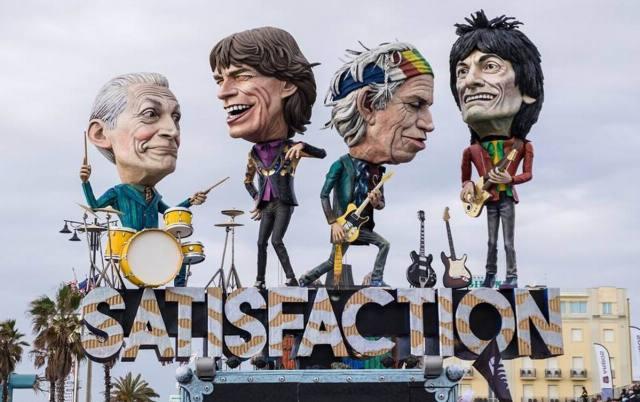 Carnevale di Viareggio 2018, the Rolling Stones