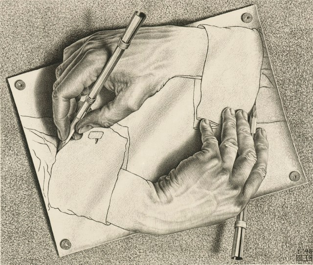 M.C. Escher, Drawing hands, 1948 © the M.C. Escher Company B.V.-Baarn- the Netherlands