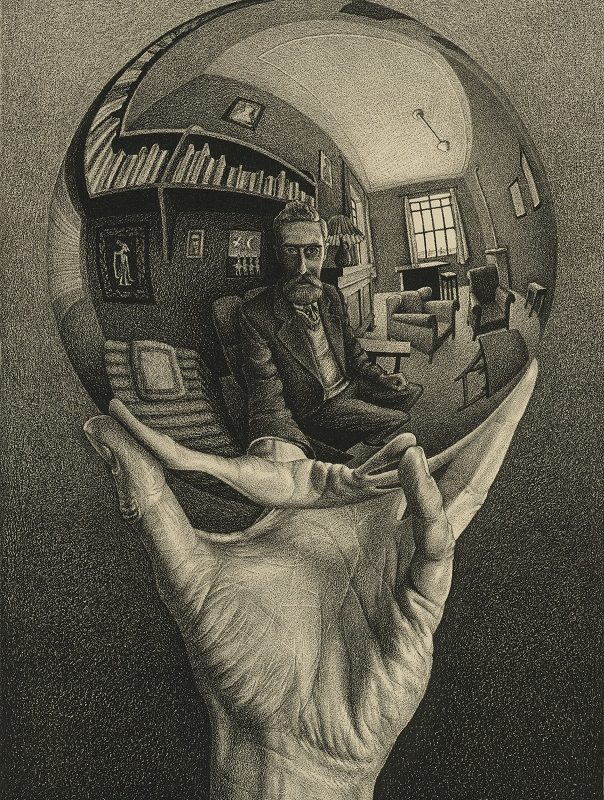 M.C. Escher, Hand with Reflecting Spehere, 1935 © the M.C. Escher Company B.V.-Baarn- the Netherlands