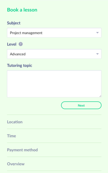 Tutors can schedule single lessons with students when they want - best online tutoring platform - Tutor.id