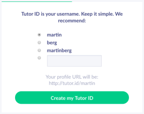 Set up tutoring business profile in minutes - username - Tutor.id