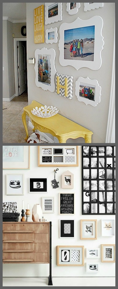 DIY  10 idee su come decorare una parete di casa