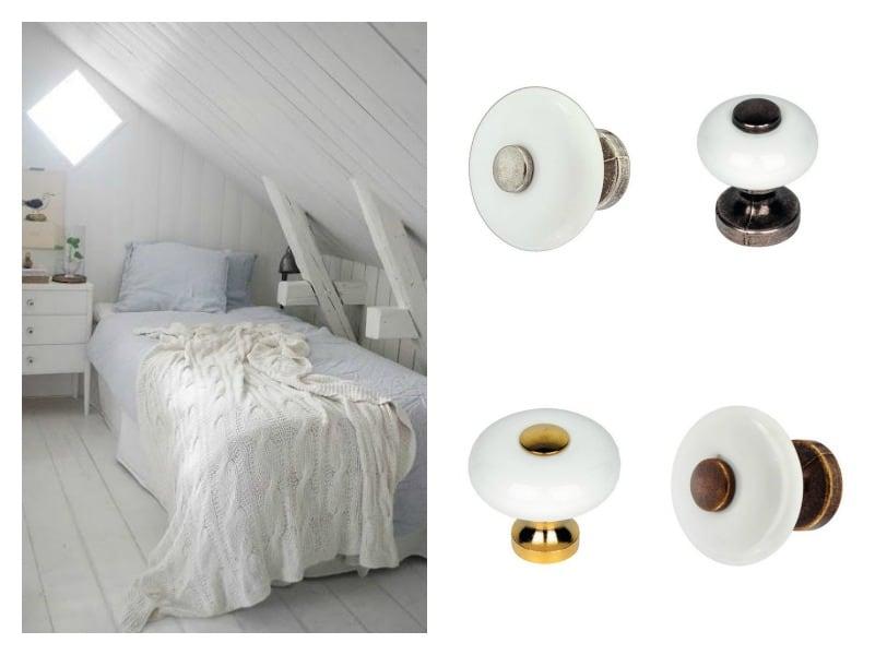 Pomelli in ceramica per mobili  idee per decorare la casa Shabby Chic