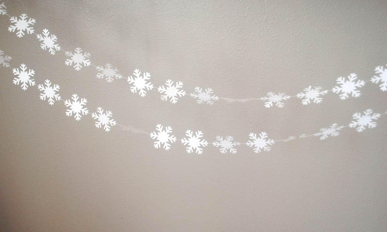 DIY Decorazioni Natalizie  Ghirlanda di fiocchi di neve  Tuttoferramenta Blog