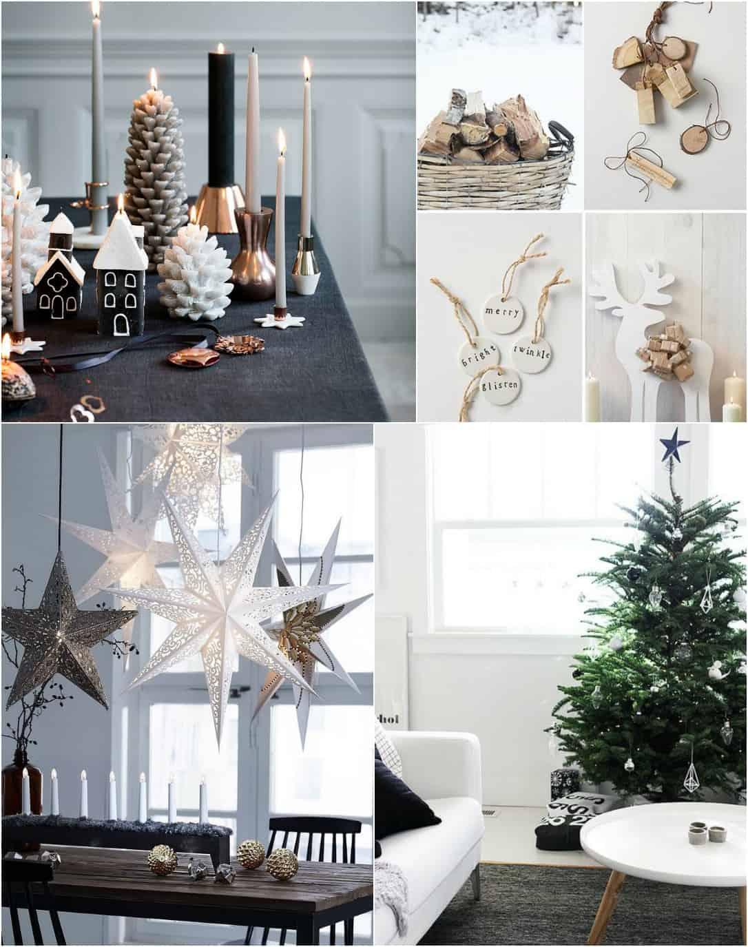 Natale Arredo  Tendenze Shabby Chic stile Scandinavo e albero Faidate