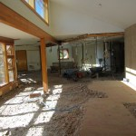 Concrete removed from the front area of the house
