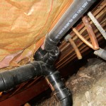 Crawlspace pipe