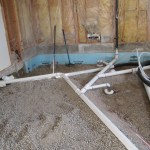 Wet vented master bath drains