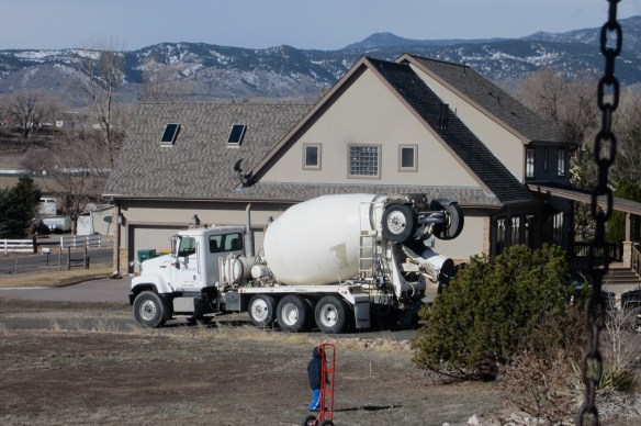 Grandson and Cement Truck