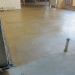 Stained floor brown overlay