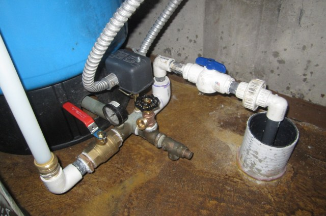 Well Water Entry and Pressure Tank Hookups