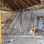 Attic rafters dropped