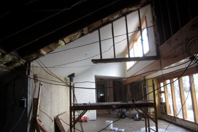 Upper attic wall to go