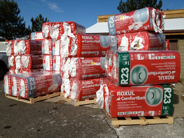 Pallets of Insulation