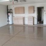 Garage floor epoxied