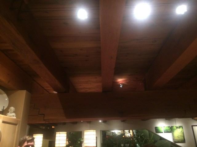LED track and Japanese Lanterns