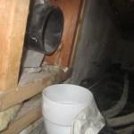 Crawlspace Radon Vent Pipe