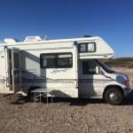 RV in New Mexico Desert