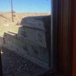 Leaning retaining walls