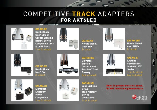 Compatible track adapters